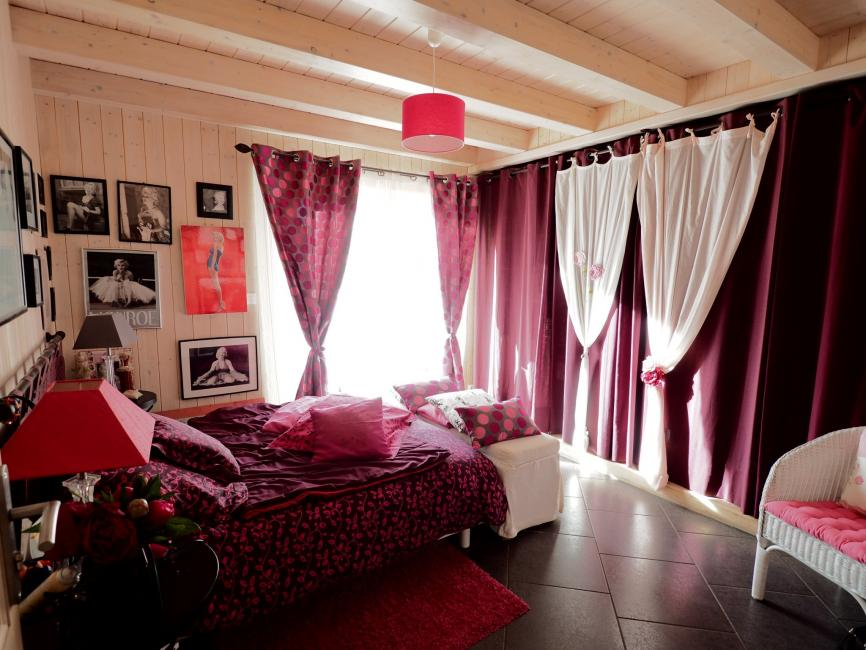 Exclusif Secteur Sermamagny très calme vue nature – Maison en madrier plain-pied